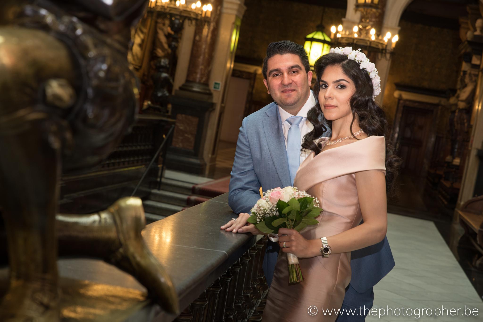Een prachtig huwelijk in het stadhuis van Antwerpen