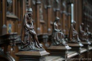 Prachtig houtwerk in de kathedraal van Antwerpen