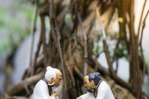 Prachtige miniatuurtjes in een Vietnamese tempel
